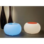 Svietiace taburet Bubble - vnútorné, úsporná žiarovka