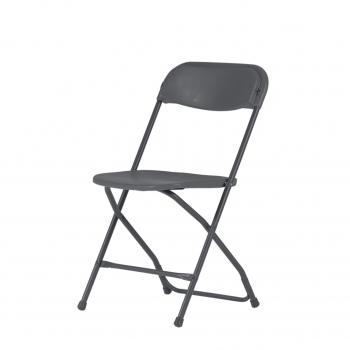 Plastová skladacia stolička ALEX CHAIR - NEW - šedá