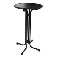 Skladací koktejlový stôl MODENA s doskou Ø 70 cm, antracitový