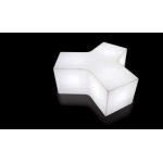 Stôl, lampa alebo stolička? YPSILON je zástupcom variabilného a univerzálne poňatého nábytku, s možnosťou viacúčelového použitia a priestorového využitia. Rozmery sú 100 x 120 x V43 cm. Na výber z modelu navnútorné i vonkajšie použitie. Osvetlenie je riešené pomocou úsporných žiaroviek alebo RGB LED panela na batériu.