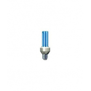 Úsporná žiarovka Slide 15W E27 modrá