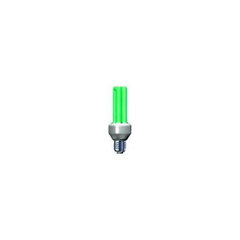 Úsporná žiarovka Slide 15W E27 zelená
