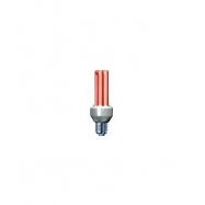 Úsporná žiarovka Slide 15W E27 červená