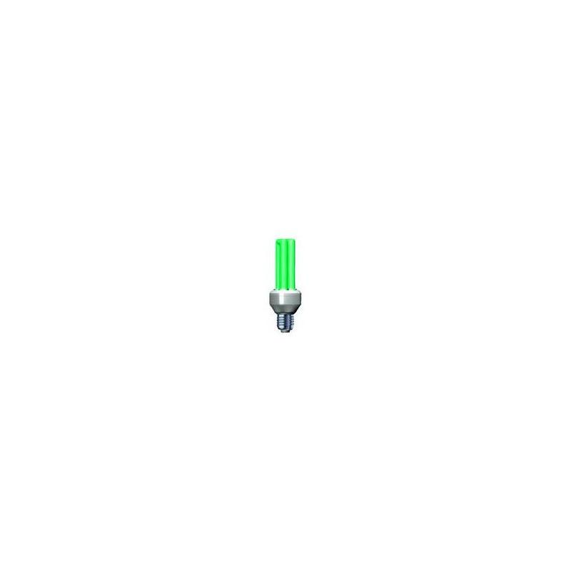 Úsporná žiarovka Slide 25W E27 zelená