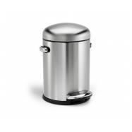 Retro pedálový odpadkový kôš Simplehuman - 4.5 l, matná oceľ, FPP