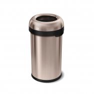 Odpadkový kôš Simplehuman do komerčných priestorov 60 l, guľatý, otvorený, ROSE GOLD oceľ
