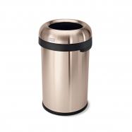 Odpadkový kôš Simplehuman do komerčných priestorov 80 l, guľatý, otvorený, ROSE GOLD oceľ