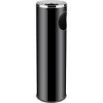 Odpadkový kôš s popolníkom o priemere 20 cm, výškou 69 cm, objem 15l, čierny