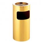 Kvalitné odpadkový guľatý kôš s popolníkom v zlatom prevedenie.