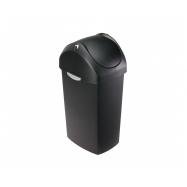 Odpadkový kôš Simplehuman - 40 l, hojdacie veko, čierny plast