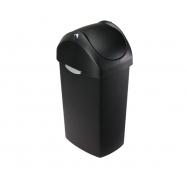 Odpadkový kôš Simplehuman - 60 l, hojdacie veko, čierny plast