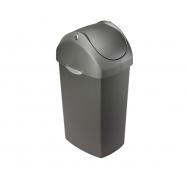 Odpadkový kôš Simplehuman - 60 l, hojdacie veko, šedý plast