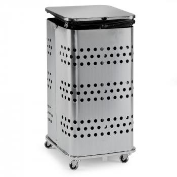 Stojan na odpadkové vrecia s vekom, 125 l, pozink