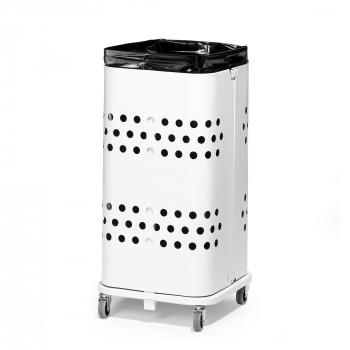 Stojan na odpadkové vrecia bez veka, 60 l, biela