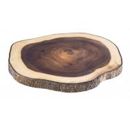 Drevené doštička na servírovanie, agát, 26 x 24 cm