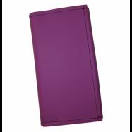 Čašnícka kasírka - 2 zipsy, koženka, fialová