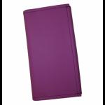 Koženková dvojzipsová kasírka/flek vo fialovej, vzorom napodobňujúcom kožu. Štandardné prevedenie kasírky vhodné pre všetkých čašníkov a servírky.
