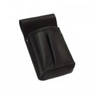 Čašnícka kapsa, puzdro - New Barex, čierna, imitácia kože