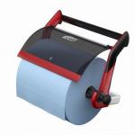 Merná jednotka: ks. Zásobník je pripevnený na špeciálnom závese, čo uľahčuje jeho inštaláciu aj demontáž, napríklad pri údržbe. Bezpečné a odolné ozubenie vystužené sklolaminátom vhodné pre ľahké odtrhávanie utierok z papiera a netkanej textílie. Robustná kovová konštrukcia zaručuje stabilitu pri odoberaní.