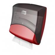 Tork Zásobník na skladané utierky - Top Pack Holder, farba čierna / červená