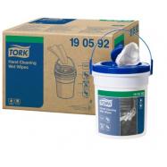 Tork Premium vlhčené utierky na ruky (Handy Bucket), návin 15,7 m, 4 ks