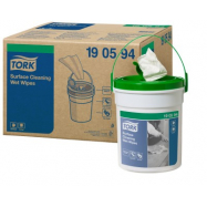 Tork Premium vlhčené utierky na čistenie povrchov (Praktické vedro), návin 15,7 m, 4 ks