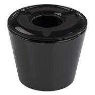 Popolník z melamínu ø65x55 mm, 4 kusy, čierna