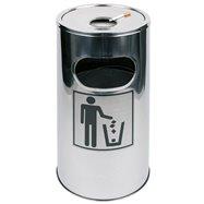 Odpadkový kôš s popolníkom, nerezový ø300x600mm