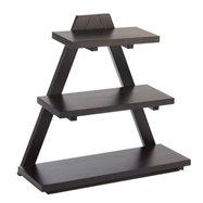 Švédsky stolička drevená 53x21x50 cm, tmavá