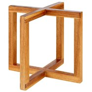 Bufetový podstavec pod nádoby, imitácia svetlého dreva, 200x200x175 mm