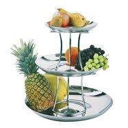 Etažér na ovocie, trojposchodový, ø 240/330/420 mm, skladacie
