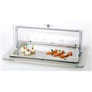 Chladiaca vitrína gn 1/1 na akrylovom podstavci 610x380x260 mm