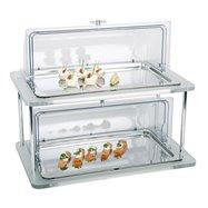 Chladiaca vitrína gn 1/1 na akrylovom podstavci, dvojitá 610x380x520 mm