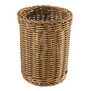 Okrúhly košík na príbory Ø 12 cm, hnedý