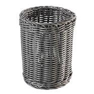 Okrúhly košík na príbory Ø 12 cm, šedý