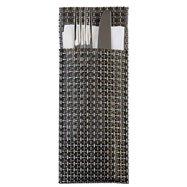 Puzdro na príbory 24 x 9 cm, strieborno-šedé