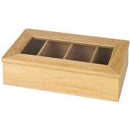 Krabica na čaj, jasné drevo bez nápisu 335x200x90 mm