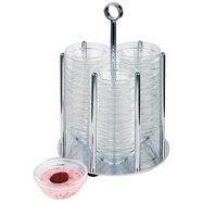 Dávkovač na misky 36x ø 75 mm, stojan so sklenenými nádobami