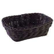 Obdĺžnikový košík z polypropylénu, čierny 190x130x60 mm