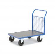Plošinový vozík, 1 madlo s drôtenou výplňou, 1085x700x1020 mm, bez bŕzd