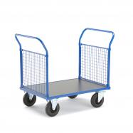 Plošinový vozík, 2 madlá s drôtenou výplňou, 1165x700x1020 mm, bez bŕzd