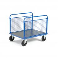 Plošinový vozík, 2 dlhé drôtené bočnice, 1000x700x900 mm, bez bŕzd