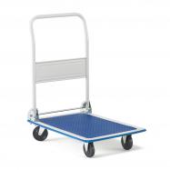 Skladací plošinový vozík Fold, nosnosť 150 kg, PU kolesá, 720x480 mm
