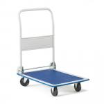 Plošinový vozík, který lze snadno složit a ušetřit tak místo. Vozík je vhodný zejména pro přepravu lehčího zboží na nejrůznějších pracovištích.   Prostorově úsporný Skládací Flexibilní a jednoduchý