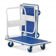 Skladací plošinový vozík Fold, nosnosť 300 kg, 905x610 mm