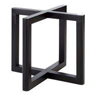 Bufetový podstavec pod nádoby, imitácia tmavého dreva, 200x200x175 mm