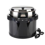 Elektrický kotlík na polievku 10 l, čierny