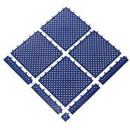Modrá bazénová modulová rohož (dlaždice) Lok-tylom - dĺžka 30,5 cm, šírka 30,5 cm a výška 1,43 cm