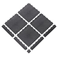 Čierna bazénová modulová rohož (dlaždice) Lok-tylom - dĺžka 30,5 cm, šírka 30,5 cm a výška 1,43 cm