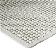 Biela protišmyková kúpeľňová vaňová rohož FLOMA - dĺžka 75 cm a šírka 35 cm